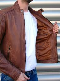 nevada men s tan leather perforated biker jacket 190 00