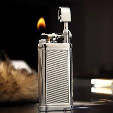 Vintage Windproof Metal <b>Cigar Pipe</b> Flame Gas Lighter <b>Inflatable</b> gift ...