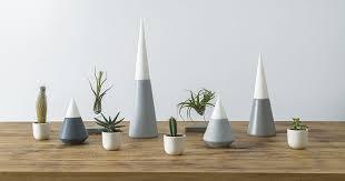 Designer Anca Fetcu has created Vulcano, a set of modern candle holders  designed to mimic