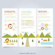 Cute Ecological Leaflet Template Free Vector Layout
