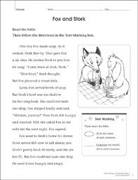 Free printable stone soup for reading comprehension : Fox And Stork Close Reading Passage Printable Lesson Plans And Ideas Skills Sheets