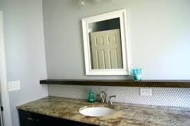 tile backsplash for bathroom tips for installing a penny tile bathroom  makeover with penny tile and