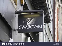 A sign above the door to the swarovski jewellery shop, Baker ...