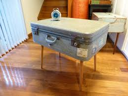 ... Coffee Table, Breathtaking Grey Rectangle Retro Wood And Fabric Suitcase  Coffee Table With Storage Ideas ...