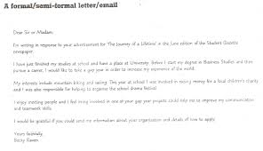 a formel letter teens 6 a formal semi formal letter email