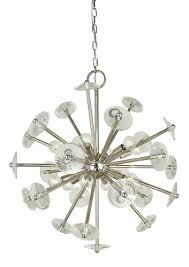12 light polished brass apogee chandelier
