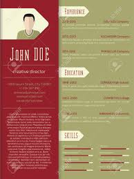 Free Resume Templates For Designers Modern Curriculum Vitae Cv Resume Template Design Royalty Free 99