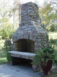 25 best ideas about outdoor wood burning fireplace on for perfect stone fireplace kit