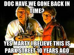 Doc have we gone back in time? Yes Marty i believe this is park ... via Relatably.com