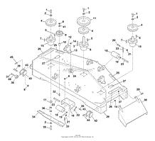 bunton bobcat ryan 942301 zero turn riding mower parts diagram cutting deck