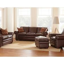quality leather living room furniture. furniture living room dark brown full grain leather sofa combined ottoman and white shades floor lamp - laltraguida quality e