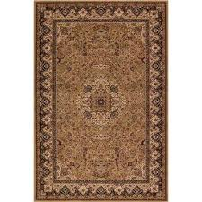 persian classic isfahan gold rectangle indoor 10 ft 11 in x 15 ft