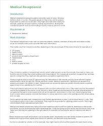 Sample Medical Receptionist Resumes Medical Receptionist Resume Airexpresscarrier Com