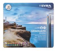 <b>Lyra Graduate Aquarell</b> Colored Pencil Set, Assorted Colors, Set of <b>24</b>