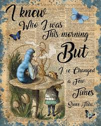 Alice In Wonderland Quote Beauteous Alice In Wonderland Quote Vintage Dictionary Art Digital Art By Anna W