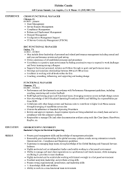 Example Of Functional Resumes Functional Manager Resume Samples Velvet Jobs
