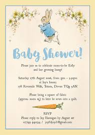 Peter Rabbit Baby Shower Invitation From 0 80 Each