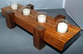 canary candle centerpiece wooden tealight holders diy wood holder