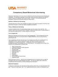 Behavioral Interviewing Summary Competence Human Resources