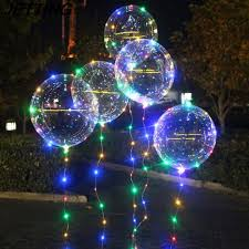 String Light Balloon Us 1 87 17 Off 20 Inch Luminous Led Balloon 3m Led Air Balloon String Lights Round Bubble Helium Balloons Kids Toy Wedding Party Decoration In