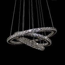 galaxy 650 crystal led pendant in cool white