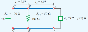 Solved Find The Input Impedance Zin For The Following T