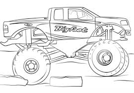 Bigfoot Monster Truck Coloring Page Free Printable Coloring Pages