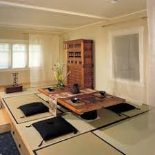 bridge design studio low tea room with an old door as a table top levels with build in storage asian style dining room furniture