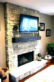 electric fireplace flat screen tv above ing