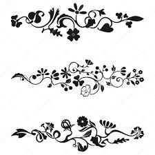 Clipart Design Ornamental Frieze Designs With Floral Details Vector Series