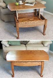 lift up top coffee table woodworking plan