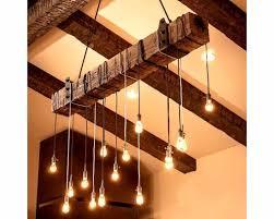 rustic wooden beam industrial chandelier wood lamps restaurant bar chandeliers