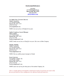 Reference Page Template Resume References Sample How To Create A