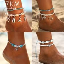 Starfish Pendant Anklets 2019 For Women New Stone Beads ... - Vova