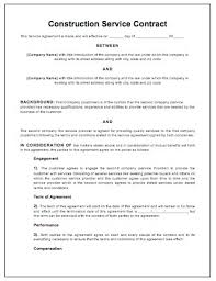 Sample Construction Contract Construction Contractor Sample Contract Guatemalago