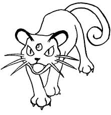 Pokemon Coloring Page 053 Persian Coloring Pages