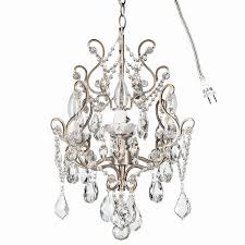 chandelier ceiling fan light kit awesome theresa vintage silver crystal chandelier mini plug in swag glass