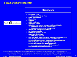 Fidelity Investments Organizational Chart Fmr Fidelity Investments A Leading Mutual Fund Company