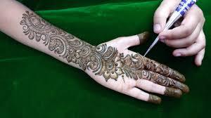 Mehandi Design In Arabic Style