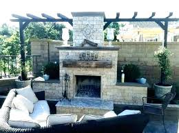 outdoor brick fireplace red brick