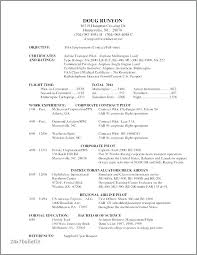 Pilot Resumes Awesome Collection For Pilot Resume Template With Additional