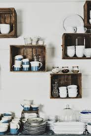 Kitchen Wall Shelf Wall Mounted Box Shelves A Trendy Variation On Open Shelves
