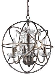 pasadena sierra globe chandelier antique bronze