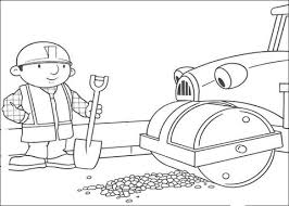 Small Picture Roley Helps Bob To Repair The Road coloring page Free Printable