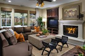 Image Corner Fireplace Creative Fireplace Mantel Decorating With The Tv Lushome 30 Multifunctional And Modern Living Room Designs With Tv And Fireplace