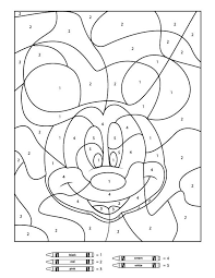Your Children Will Love These Free Disney Color By Number Printables