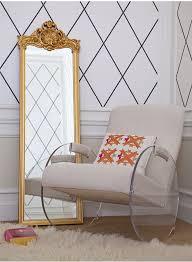 lucite rocking chair