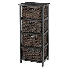 black wood storage cabinet. Realspace 4 Drawer Wood Storage Cabinet Black O