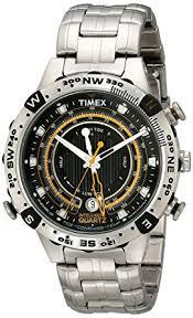 amazon com timex men s t2n738 intelligent quartz adventure series timex men s t2n738 intelligent quartz adventure series tide temp compass bracelet watch