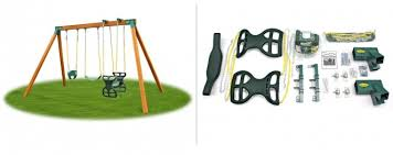 classic kids swing set kit with swings and hardware